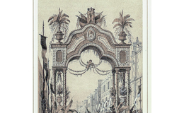 Características y ubicación de los arcos triunfales en honor a Maximiliano y Carlota