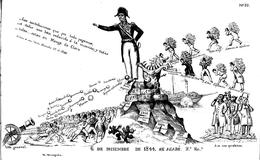 Una caricatura de Santa Anna en 1845
