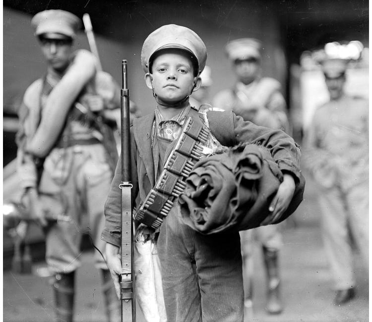 El drama de los niños soldados en la Revolución mexicana