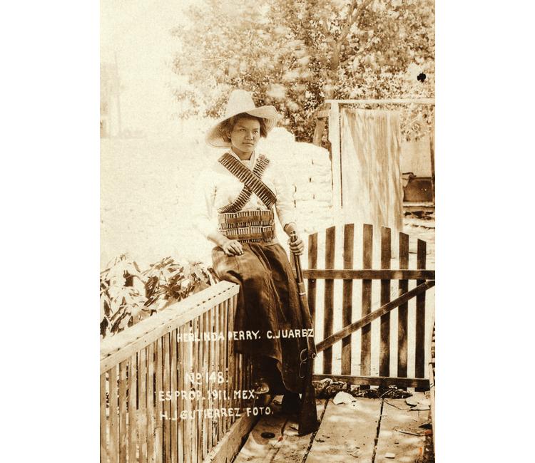 Herlinda Perry, la emblemática mujer en las fotos de la Revolución