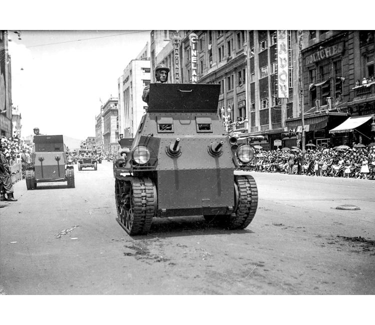 ¿Cuando llegaron los tanques de guerra a México?