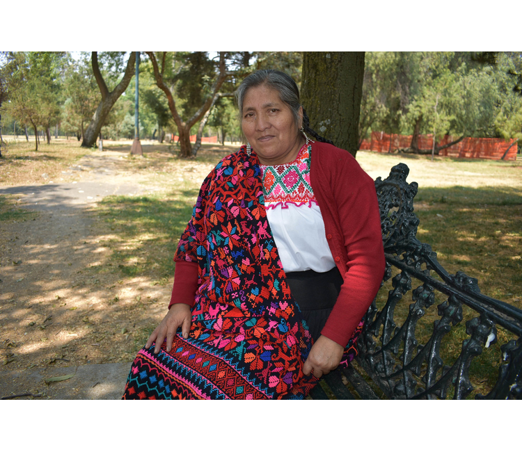 Teresa Lino Bello, maestra artesana de textiles de lana con colorantes naturales