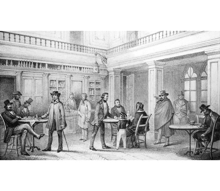 ¿Cómo eran los antiguos cafés y por qué eran tan importantes en el México decimonónico?