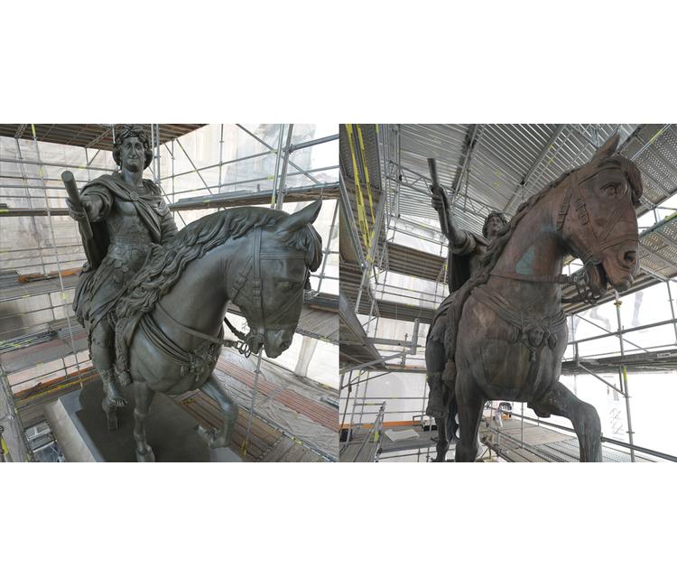 """Restauración y conservación de la Escultura Ecuestre de Carlos IV, """"El Caballito"""""""