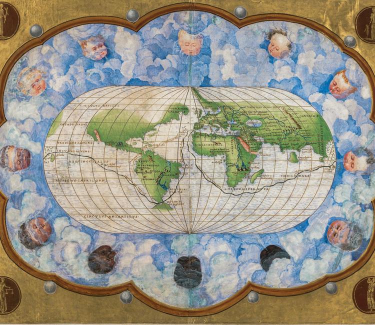 México aparece por primera vez en el mapa en 1544