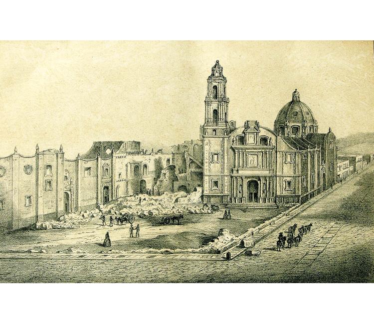 La afamada Plaza de Santo Domingo en la Ciudad de México del siglo XVIII