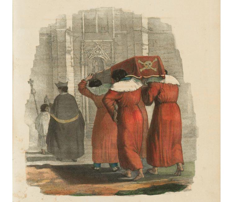 Andanzas de un difunto que fue obispo y hoy polvo es