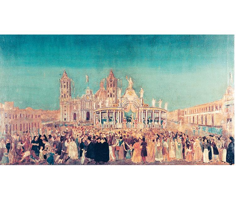 """Recuerdos del Zócalo: """"Entrada del Ejército Trigarante a la Ciudad de México en 1821"""""""