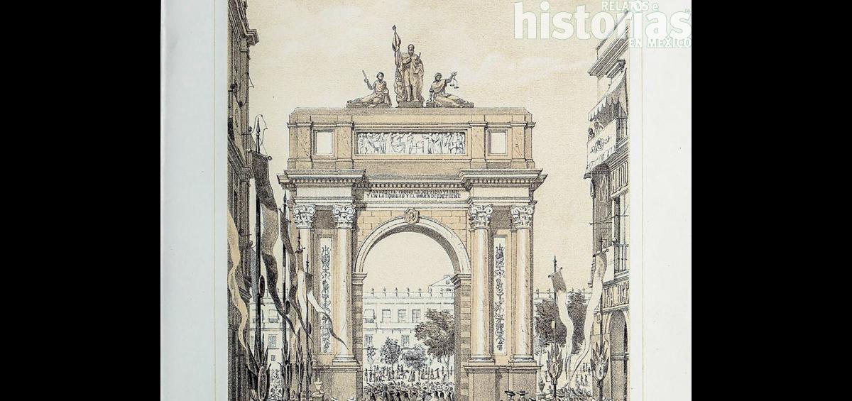 Los arcos efímeros en honor a Maximiliano y Carlota en Ciudad de México