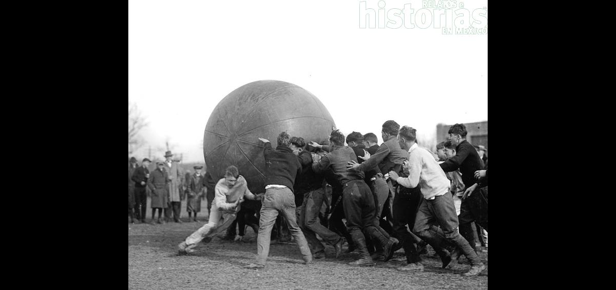El juego del pushball en 1920 y 1968