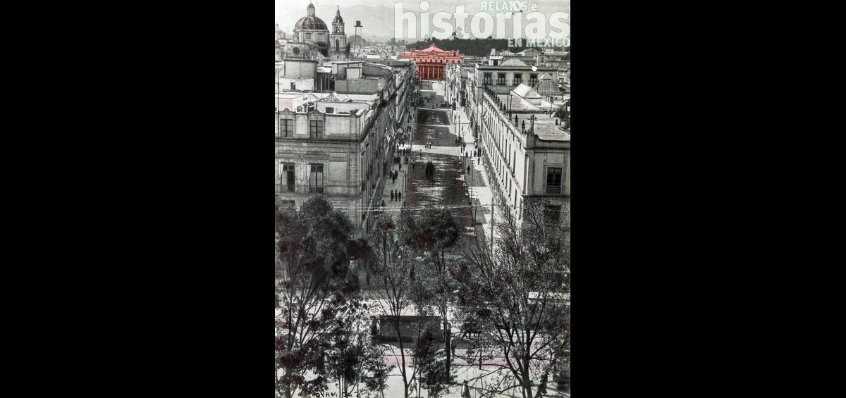 La calle del 5 de Mayo y la demolición del Teatro Nacional