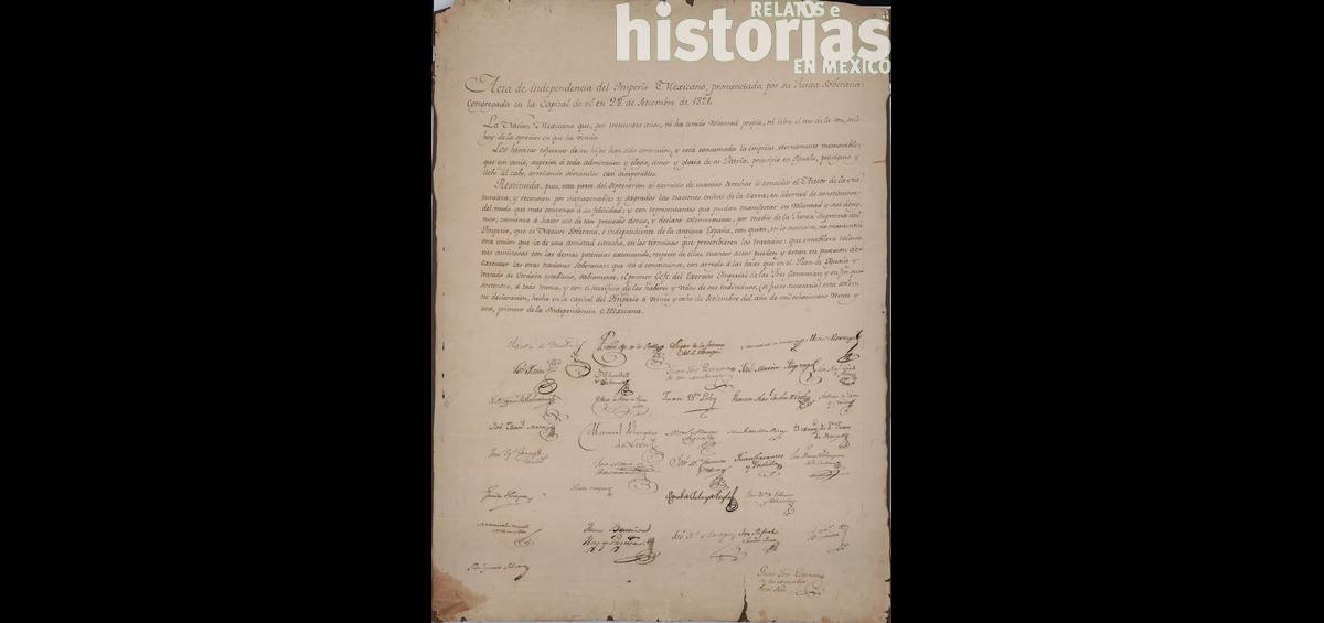 ¿Quiénes firmaron el Acta de Independencia de México?