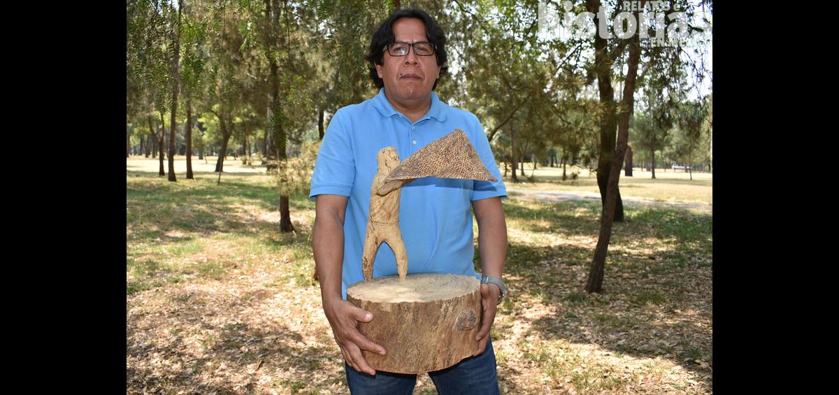 René Baltazar Morales, maestro artesano de escultura en madera