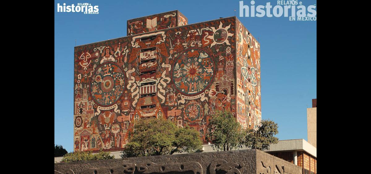 La espléndida Biblioteca Central de la UNAM