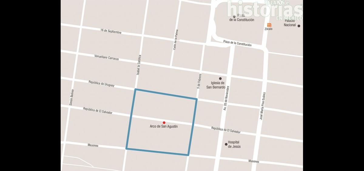 El increíble arco de San Agustín, un pasadizo cubierto en la Ciudad de México