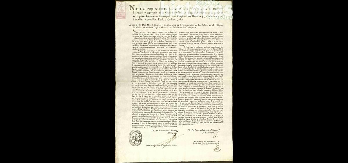 La Inquisición contra Hidalgo