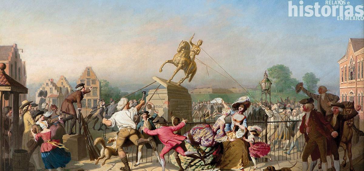 El derribamiento de estatuas