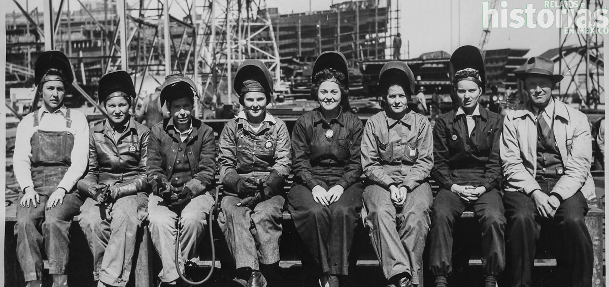 Mujeres incorporadas a la industria sostuvieron el esfuerzo bélico de la Segunda Guerra Mundial