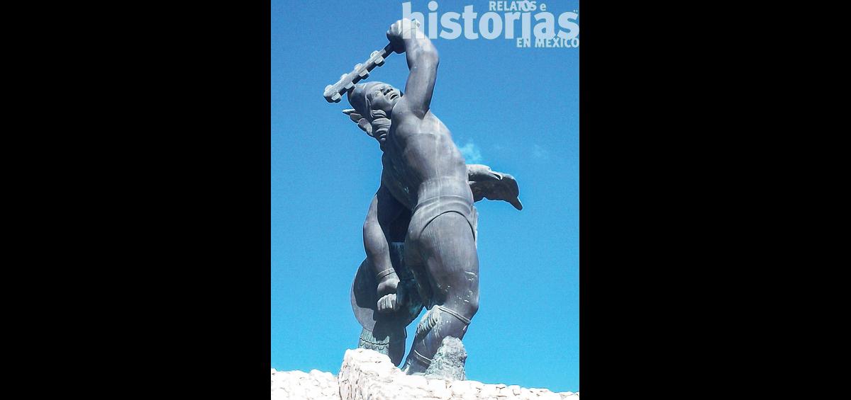 """Aquí yacen los restos de Cuauhtémoc"""