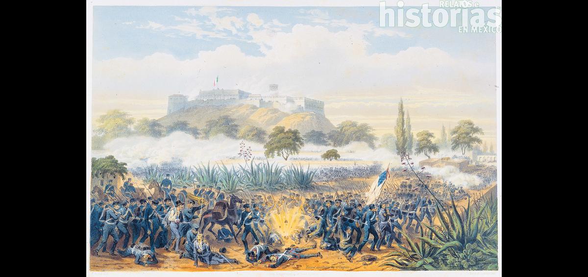 Postal: Ataque al Castillo de Chapultepec