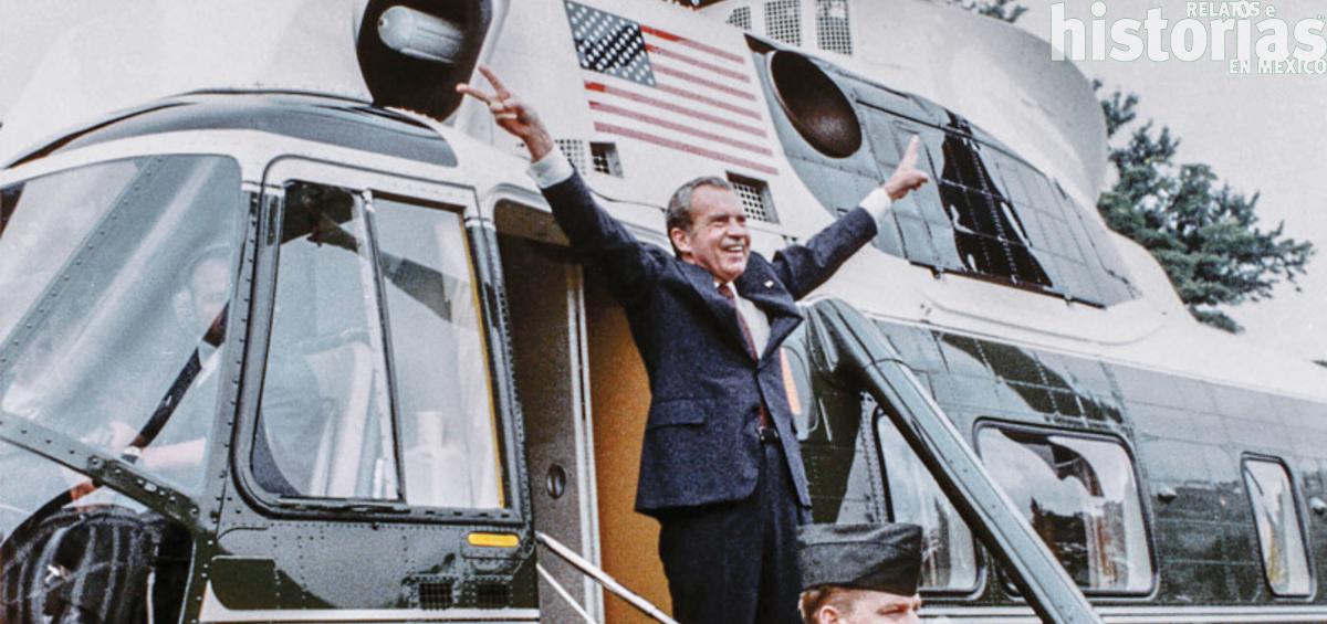 El escándalo Watergate y la renuncia de Richard Nixon a la presidencia de Estados Unidos en 1974